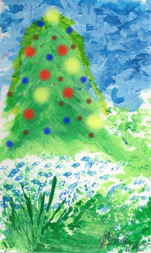 Acrylic painting of tree