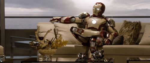 Ironman on couch