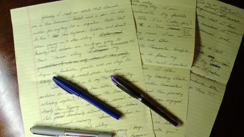 manuscropt pages