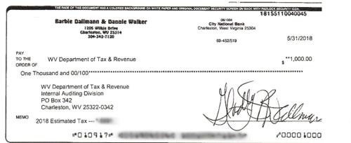 Estimated Taxes Check